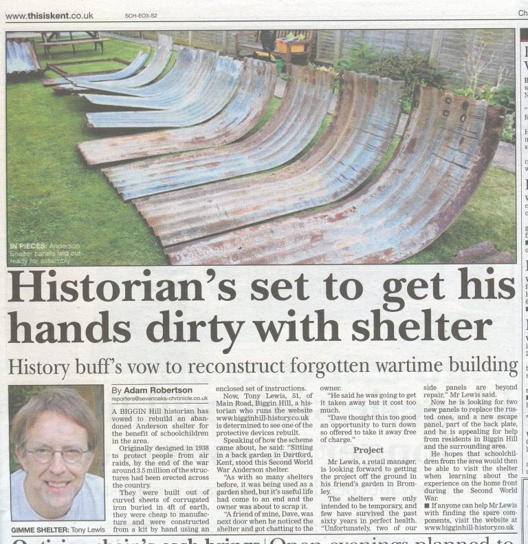 Westerham Chronicle article